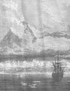 NORWAY. Mountains in Spitzbergen, with Coast glacier and Ice peaks 1893 print
